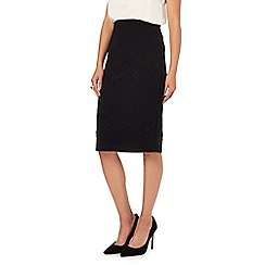 The Collection - Black textured pencil skirt
