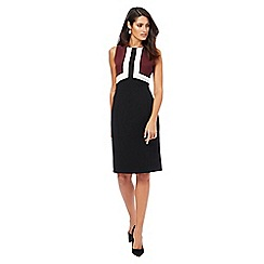 The Collection - Black and white knee length pencil dress