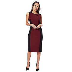 The Collection - Dark red and black pencil dress