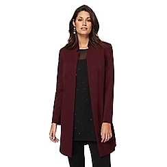 The Collection - Dark red workwear manteau coat