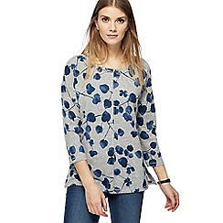 The Collection - Grey leaf print top