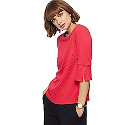 The Collection - Pink textured chevron top