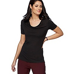 The Collection - Black cowl neck t-shirt
