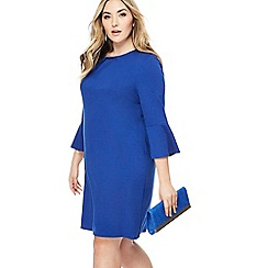 The Collection - Blue knee length plus size shift dress