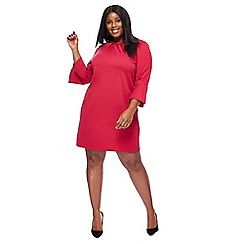 The Collection - Bright pink knee length plus size shift dress