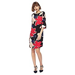 The Collection - Multi-coloured floral print knee length shift dress
