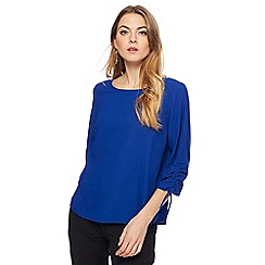 The Collection - Blue drawcord sleeves top