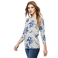 The Collection - Grey lily print top