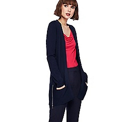 The Collection - Navy edge to edge zip cardigan