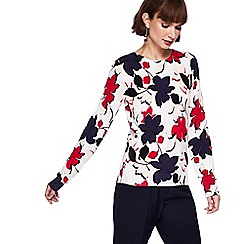 The Collection - Multi-coloured floral print jumper