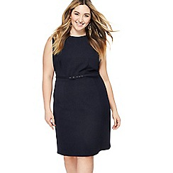 The Collection - Navy knee length plus size pencil dress