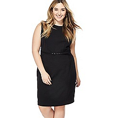 The Collection - Black knee length plus size pencil dress