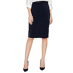 The Collection - Navy belted suit skirt