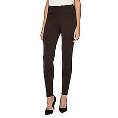 The Collection - Brown ponte leggings