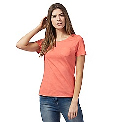 The Collection - Peach chest pocket t-shirt