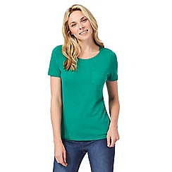 The Collection - Green chest pocket t-shirt