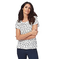 The Collection - White spotted bubble hem top