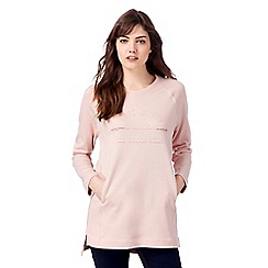 The Collection Petite - Pink slogan print petite sweater