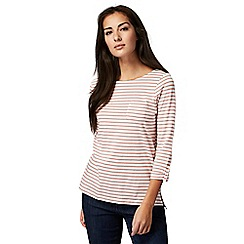 The Collection - Pink striped print t-shirt
