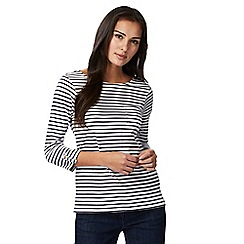 The Collection - Navy striped print t-shirt