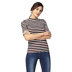 The Collection - Red and white striped top
