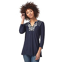 The Collection - Blue embroidered tunic