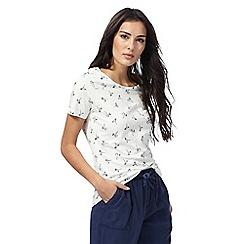 The Collection - White hummingbird print t-shirt