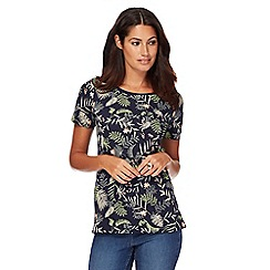 The Collection - Navy leaf print t-shirt