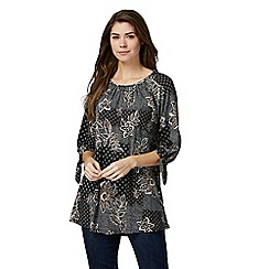 The Collection - Black floral print tunic