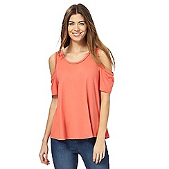 The Collection - Orange cold shoulder top