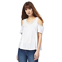 The Collection - White cold shoulder top