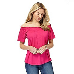The Collection - Bright pink gypsy top