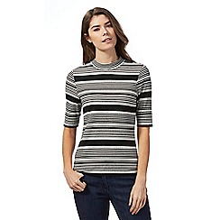 The Collection - Black and grey striped top