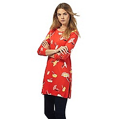 The Collection - Red floral print tunic