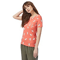 The Collection - Orange floral print t-shirt