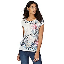 The Collection - White floral print top