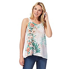The Collection - White floral print vest top