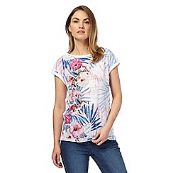 The Collection - White hummingbird print t-shirt