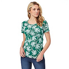 The Collection - Green and white palm tree print t-shirt
