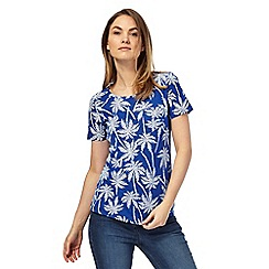 The Collection - Blue palm tree print t-shirt