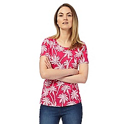 The Collection - Pink palm tree print t-shirt