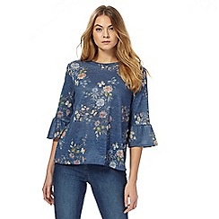 The Collection - Blue floral top
