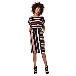 The Collection - Multi-coloured striped print dress