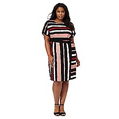 The Collection - Multi-coloured striped print plus size dress