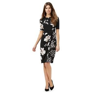 Plus Size The Collection Black Floral Print Dress