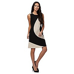 The Collection - Tan curved colour block dress
