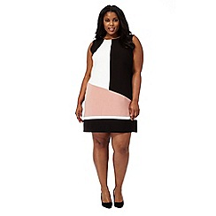 The Collection - Black colour block plus size shift dress