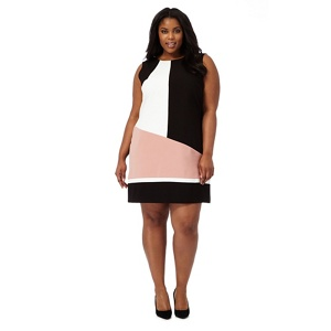 The Collection Black colour block plus size shift dress