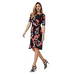 The Collection - Black poppy print dress