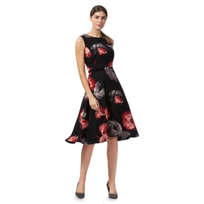 Debenhams black spotted dress